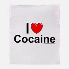 Cocaine Throw Blanket