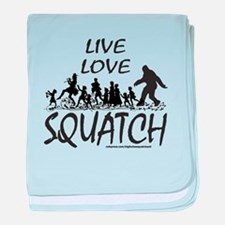 LIVE LOVE SQUATCH baby blanket