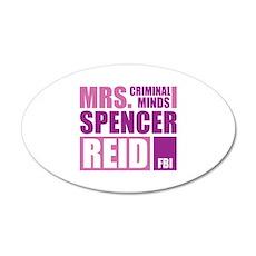 Mrs. Spencer Reid 22x14 Oval Wall Peel