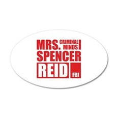 Mrs. Spencer Reid 22x14 Oval Wall Peel