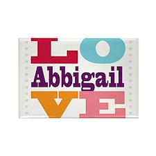 I Love Abbigail Rectangle Magnet