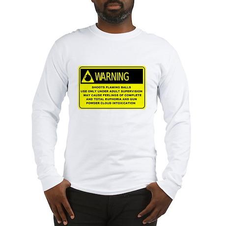 Warning! Shoots Flaming Balls Long Sleeve T-Shirt