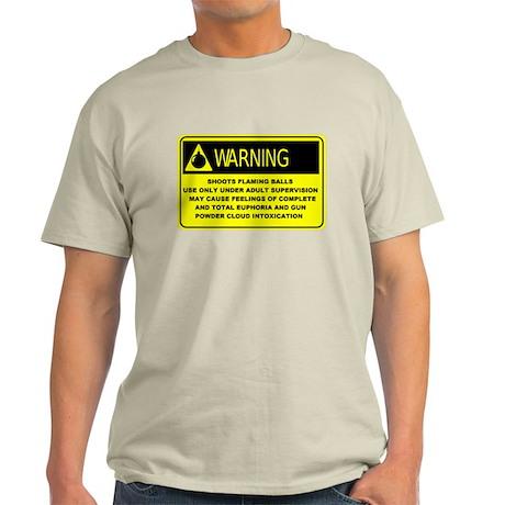 Warning! Shoots Flaming Balls Light T-Shirt