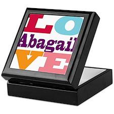 I Love Abagail Keepsake Box