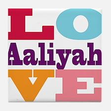 I Love Aaliyah Tile Coaster