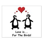 Love For Birds Penguins Small Poster