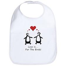 Love For Birds Penguins Bib
