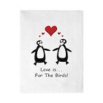 Love For Birds Penguins Twin Duvet