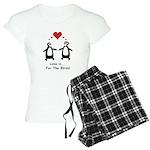 Love For Birds Penguins Women's Light Pajamas
