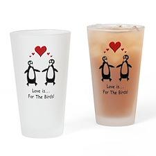 Love For Birds Penguins Drinking Glass