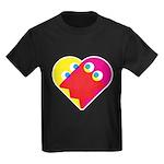 Ghost Heart Kids Dark T-Shirt