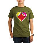 Ghost Heart Organic Men's T-Shirt (dark)