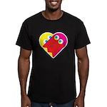 Ghost Heart Men's Fitted T-Shirt (dark)
