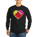 Ghost Heart Long Sleeve Dark T-Shirt