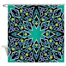 Abstract Wreath Shower Curtain