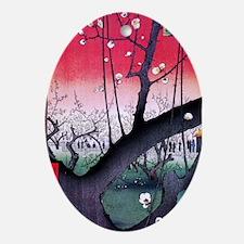 Hiroshige Kameido Ornament (Oval)
