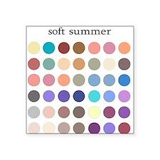 color analysis Sticker soft summer Sticker