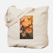 Chrysanthemums by a stream Tote Bag