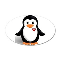 penguin with heart Wall Decal