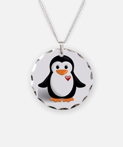 penguin with heart Necklace