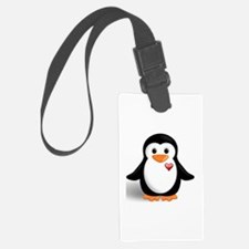 penguin with heart Luggage Tag