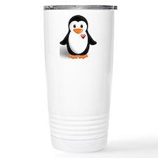 penguin with heart Travel Mug