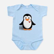 penguin with heart Infant Bodysuit