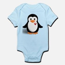penguin with heart Onesie