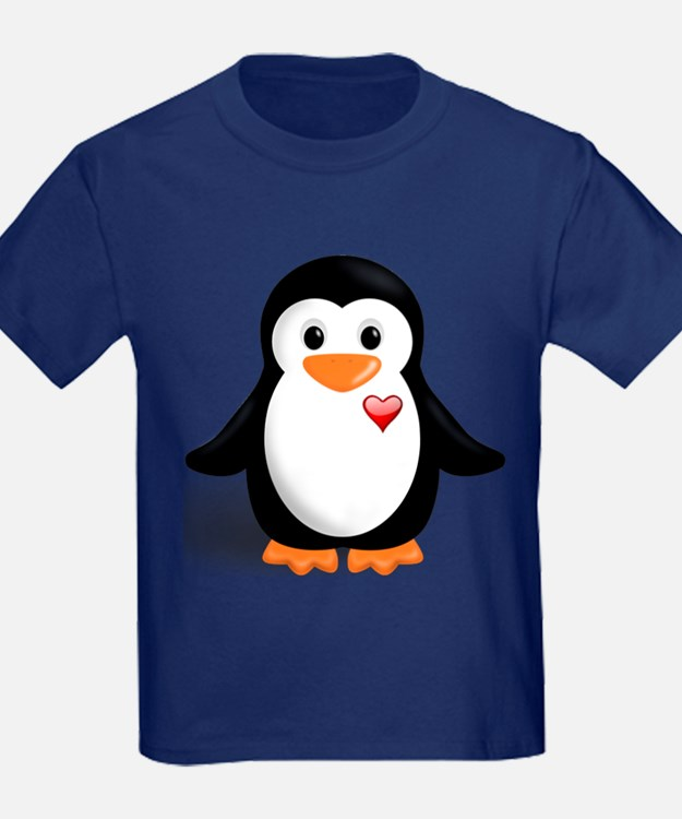 penguin with heart T