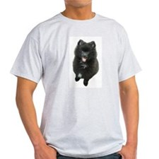 Adorable Black Pomeranian Puppy Dog T-Shirt