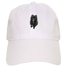 Adorable Black Pomeranian Puppy Dog Baseball Cap