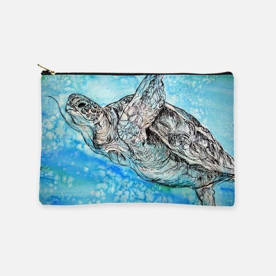 Sea Turtle! Wildlife art! Makeup Pouch
