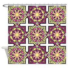Circles & Squares Shower Curtain