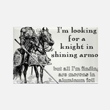 Knight In Shining Armor Funny T-Shirt Rectangle Ma
