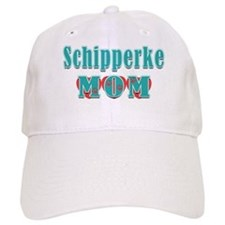 Schipperke Mom Hearts Baseball Cap