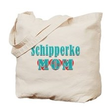 Schipperke Mom Hearts Tote Bag