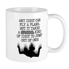 Special Idiot Skydiver Skydiving Funny T-Shirt Mug