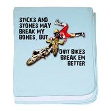 Sticks And Stones Dirt Bike Motocross T-Shirt baby