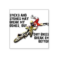 Sticks And Stones Dirt Bike Motocross T-Shirt Squa