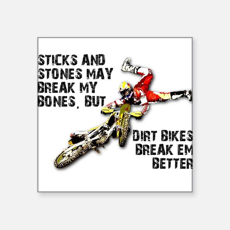 Sticks And Stones Dirt Bike Motocross T-Shirt Squa
