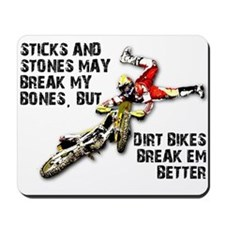 Sticks And Stones Dirt Bike Motocross T-Shirt Mous