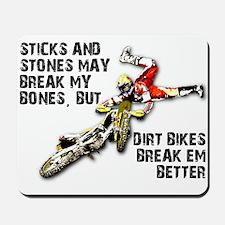 Sticks And Stones Dirt Bike Motocross T-Shirt Mous