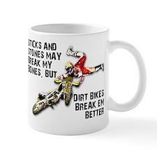 Sticks And Stones Dirt Bike Motocross T-Shirt Mug
