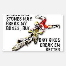 Sticks And Stones Dirt Bike Motocross T-Shirt Stic