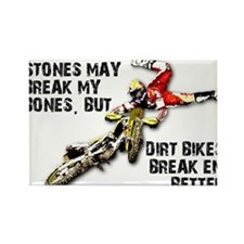 Sticks And Stones Dirt Bike Motocross T-Shirt Rect