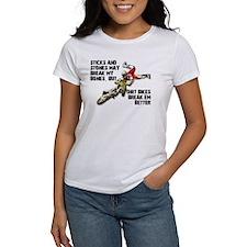 Sticks And Stones Dirt Bike Motocross T-Shirt Wome