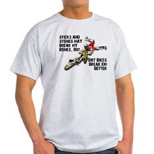 Sticks And Stones Dirt Bike Motocross T-Shirt Ligh