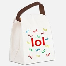 Laughing Out Loud Canvas Lunch Bag
