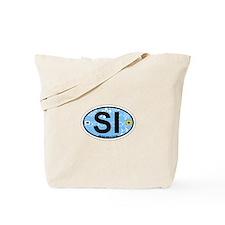Sanibel Island - Oval Design. Tote Bag