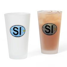 Sanibel Island - Oval Design. Drinking Glass